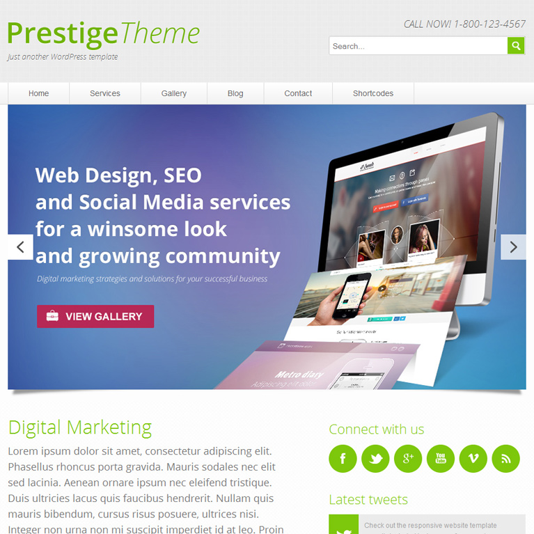 Prestige - Responsive Wordpress Theme